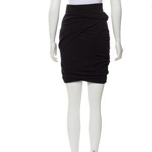 Carven black ruching skirt